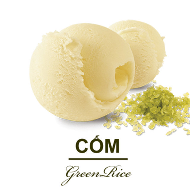 Kem Teamo Cốm 3000ml - Teamo Green Rice Ice Cream