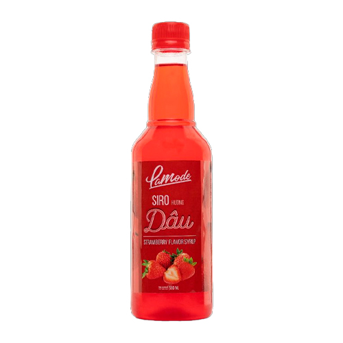 Siro Lamode Hương Dâu 500ml - Lamode Strawberry Flavor Syrup 500ml